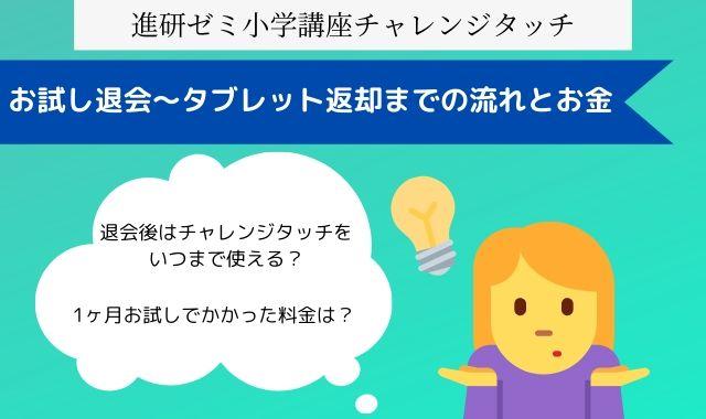 進研ゼミ小学講座 退会
